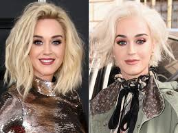 katy perry u0027s blonde hair mystery solved see her confirm it u0027s a wig