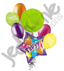 30th birthday balloon bouquets bright bold sparkling 30th happy birthday balloon bouquet