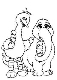 sesame street big bird coloring pages print coloring