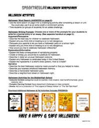 free halloween wordsearch activity u0026 writing prompts by tracee orman