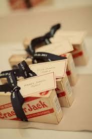 Personalized Cracker Jack Boxes Our Diy Vintage Baseball Wedding Baseball Wedding Favors
