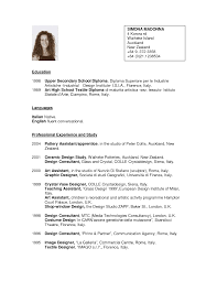Resume Samples Nz by Cv Layout Example Nz