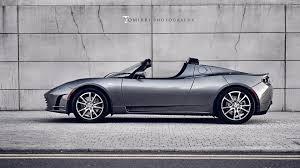 tesla supercar tesla roadster side view hd wallpaper carholics pinterest