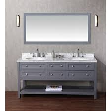 stufurhome marla 72 inch double sink bathroom vanity with mirror
