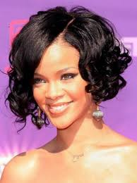 cheap rihanna meidum water wave curly human hair lace front wig