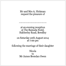 Wedding Invitation Phrases Invitation Wording For Reception Only Samples
