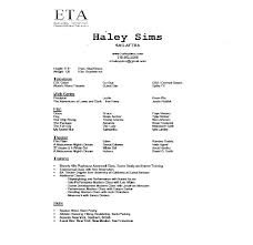 job resume sample acting resume no experience dancer resume for
