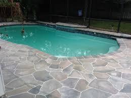 Pavers Over Concrete Patio by Home Decor Concrete Patio Around Pool Ideas U003ca Class U003d