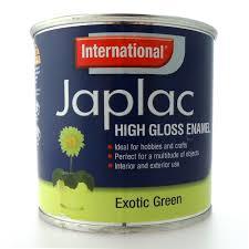 international japlac high gloss enamel satin metallic paint 250ml