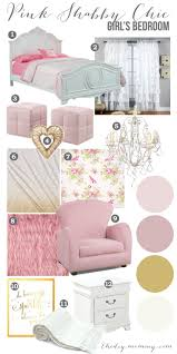 mood board a pink shabby chic girls bedroom design little c u0027s