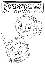 angry birds star wars coloring pages party ideas