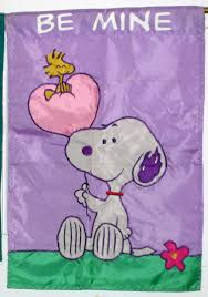 Snoopy Flags Sold Snoopy Woodstock Be Mine Decorative Garden Flag 13 X 18