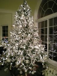 silver tree decor chritsmas decor