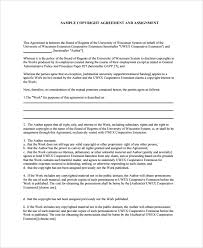sample assignment agreement template 9 free documents download