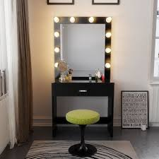Dressing Room With Bathroom Design Magnificent Lighted Vanity Table Bathrooms Design Bathroom Mirrors