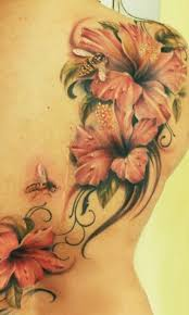 Large Flower Tattoos On - 40 magnificent hibiscus flower tattoos