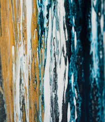 Black White Turquoise Teal Blue by Meteor Shower Ii By Qiqigallery 48