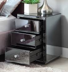 Mirrored Furniture Online Vegas Smoke Mirrored Bedside Table Chest Mirror Furniture