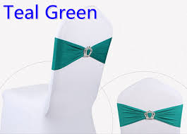 teal chair sashes teal colour crown buckle lycra sash for wedding chairs decoration