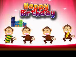 e card happy birthday monkey party youtube