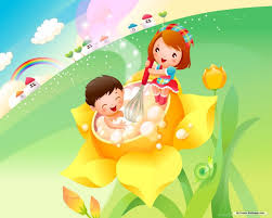 hd childrens flower cartoon wallpapers full size hirewallpapers