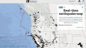 Us Geological Earthquake Map The Oregonian Created A Near Real Time Earthquake Map For Oregon