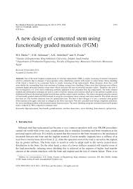 a new design of cemented stem using functionally graded materials