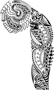 collection of 25 polynesian tribal design on white background