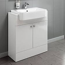 Bathroom Sink Units With Storage 660mm Gloss White Basin Vanity Cabinet Bathroom Storage Furniture