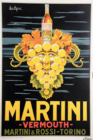 martini and rossi vermouth original vintage italian poster advertising martini vermouth by