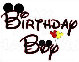 birthday boy birthday boy with mickey ears instant digital clip