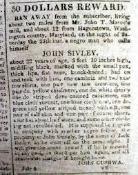 Hagerstown Md Zip Code Map by 1814 Washington Dc Newspaper W 6 Runaway Slave Reward Ads