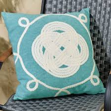 ornamental knot indoor outdoor pillow by liora manne