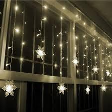 16 pcs 3 5m 96 led snowflake curtain light for decorations
