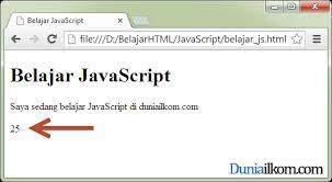 membuat web sederhana dengan javascript belajar javascript cara menilkan hasil program javascript