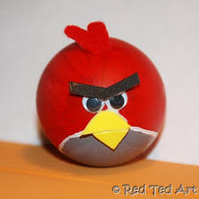 quick craft angry birds eggs craft red ted art u0027s blog