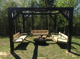 Pergola With Swing by Ana White Fire Pit Swings Diy Projects