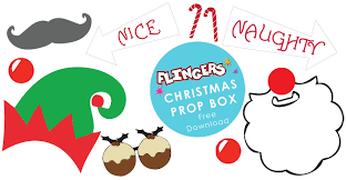christmas photo booth props flingers party shop free christmas party photobooth props