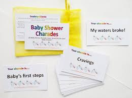 baby shower party game charades blue amazon co uk toys u0026 games