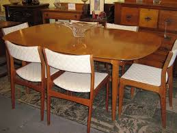 mid century dining room set mid century expandable dining table
