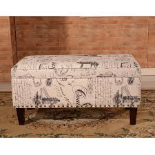 Aqua Storage Ottoman Luxury Comfort Collection Classic Vintage Writing