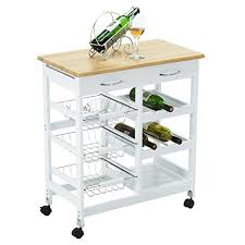 amazon com mecor kitchen island cart trolley portable rolling