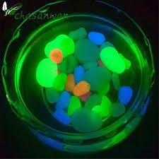 aliexpress com buy 100x glow in the dark pebbles stones garden