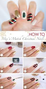 mix u0027n u0027match christmas nail art tutorial