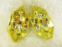 jewelbrite ornaments 1960s gold hexagon diorama gem shaped ornament