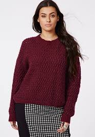 missguided plus size chunky knit sweater oxblood where to buy