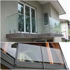 china 12mm transparent tempered glass balcony railing china