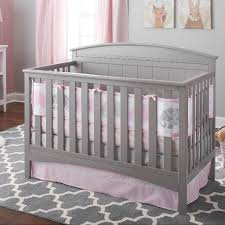 breathablebaby 3pc classic crib bedding set pink breathablebaby