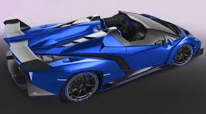 blue lamborghini veneno menacing the lamborghini veneno roadster will be easy to spot when