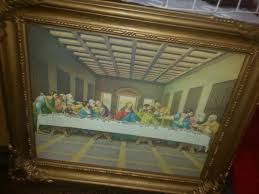 home interior collectibles syrocco home interiors vintage pic of last supper collectibles